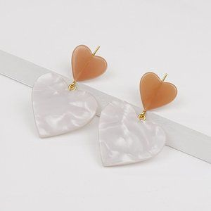 Madewell Heart of Hearts Statement Earrings - NWOT